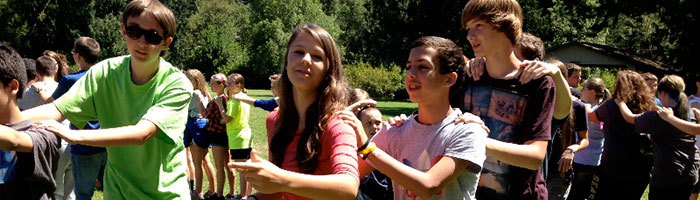 Seventh and eighth grade summer camp at Camp Yamhill