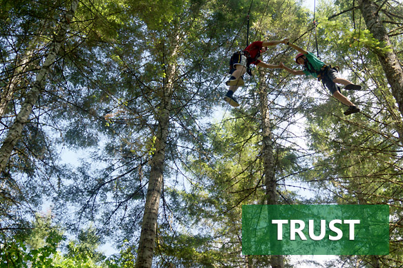 Building trust on the high elements of Camp Yamhill's Challenge Course
