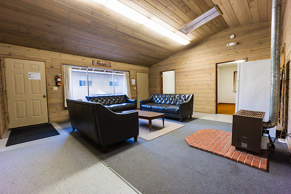 The staff cabin is conventiently located next to the big and small lodge and includes a heater and refridgerator