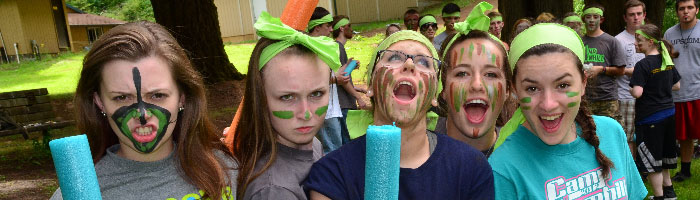 High School summer camp at Camp Yamhill